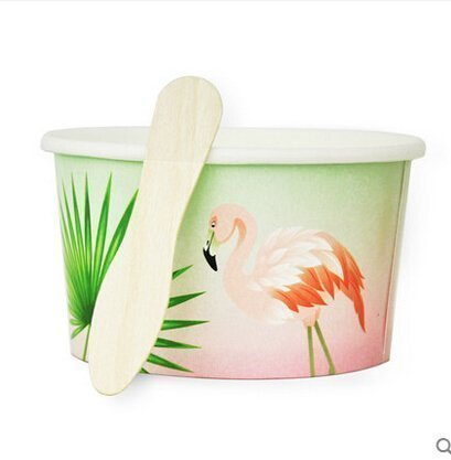 flamingo tube&wood spoons