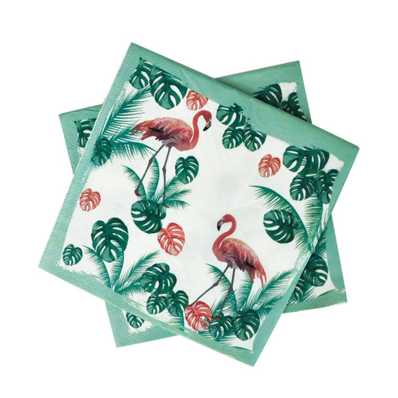flamingo napkins