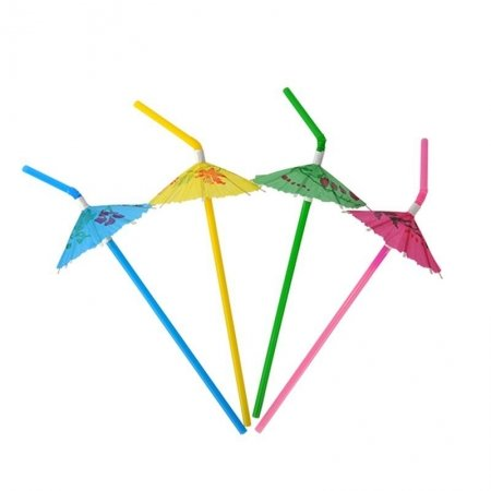 summer umbrella straws